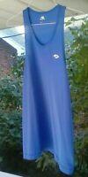 BROOKS Blue MED.Muscle Tank Top/Running Singlet Micro-Mesh Semi-See-Thru UNISEX