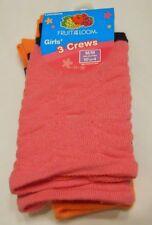 Girls Crew Socks Shoe Size 10.5-4 Medium Fruit of the Loom D7004