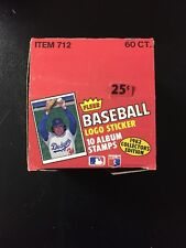1982 Fleer Baseball Album Stamp Logo Sticker Set Wax Pack Box EMPTY DISPLAY