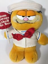 "10"" vintage Garfield plush stuffed 1981 Feature Syndicate Dakin RARE-"