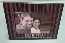 "3""x5"" Black-Striped Photo Frame: ""Friends - 1 Thess. 5:11"""