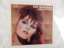 """PAT BENATAR  """"Shadows Of The Night"""" PICTURE SLEEVE! BRAND NEW!!"""