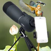 25-75x70mm Zoom Angled Spotting Scope Monocular Telescope w/Tripod&Phone Adapter