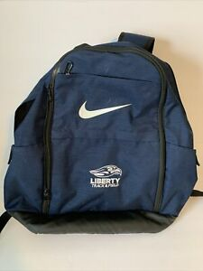 Liberty University Nike Track And Field Backpack Navy Blue