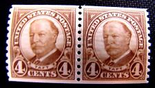 687 4c WILLIAM TAFT PAIR MHM OG (SEE DESCRIPTION)