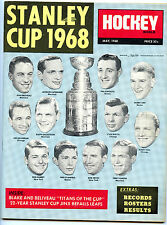 1968 Hockey World Magazine -Stanley Cup Issue-Orr,Beliveau,Hull
