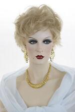 Featherweight Premium Short Blonde Brown Red Wavy Layered Mono Top Shag Wig