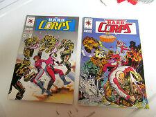 LOT 2 * VALIANT COMICS *THE H.A.R.D.  CORPS *1994 # 17.  &  # 18.   F/F