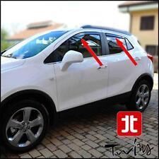 Set 4 Déflecteurs de vent pluie air teintées Opel Mokka Mokka X Chevrolet Trax