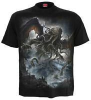 SPIRAL DIRECT CTHULHU T-Shirt Goth/Rock/Metal/Giant Octopus/Dark Gods/Tees