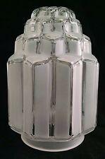 "3-1/4"" FITTER ART DECO SKYSCRAPER LAMP SHADE ELECTRIC LIGHT GLOBE TABLE POST"