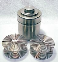 16 OZ Vintage Stainless Developing Tank   w/ Two Reels   No 2a  