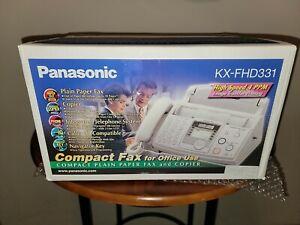 New Panasonic KX-FHD331 Compact Plain Paper Fax And Copier Telephone Machine