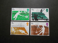 GB 1977 Commemorative Stamps~Sports~Fine Used Set~ex fdc~UK Seller