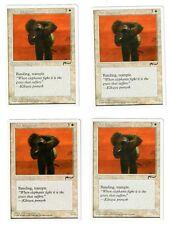 MTG War Elephants x4 NM-Mint Magic the Gathering Playset Chronicles Unplayed