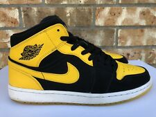 3729c99ed0e0ef Men s Nike Air Jordan 1 Mid Retro OG New Love Yellow Maize White 554724 035