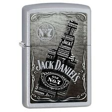 Zippo 29285 Jack Daniel's Collage Satin Chrome Finish Full Size Lighter
