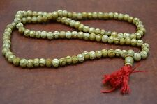 108 PCS BROWN TIBETAN BUDDHIST BONE MALA PRAYER BEADS 8MM #T-1820