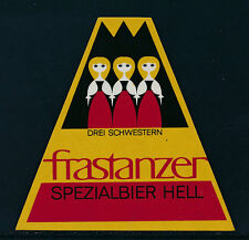Bier Etikette Frastanzer Spezialbier hell, drei Schwestern   24/9/14