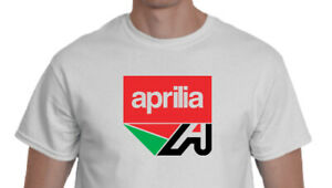 Aprilia Motorcycle and Scooter logo T shirt Heavy Cotton Top Quality