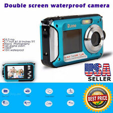 24MP 16x Digital Zoom Dive Camera Video Waterproof Double LCD Screen HD 1080P US