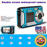 Double Screen Waterproof Camera 16x Digital Zoom HD 24MP Dive Video Camcorder