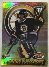 2000-01 ANDREW RAYCROFT PRIVATE STOCK TITANIUM ROOKIE #105 BRUINS #0403/1000