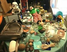 BIG JUNK DRAWER LOT, COLLECTIBLES, TOYS, FIGURINES, ELECTRONICS, BRASS, JEWELR