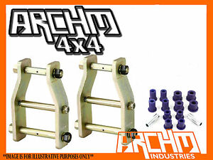 EXTENDED GREASABLE ANTI-INVERSION SHACKLES & BUSHES FOR FORD COURIER 4WD 1987-06