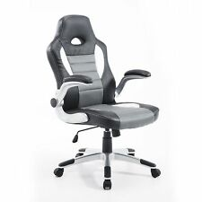 Racing Car Office Chair Swivel Excutive Computer Gaming Chair w/ Armrest