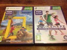 Xbox 360 Kinect Bundle-Nat Geo Amerika die Wild & Your Shape Fitness 2012 VGC