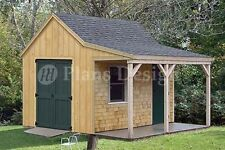12' x 12' Cottage / Cabin Shed Plans / Blueprints 81212