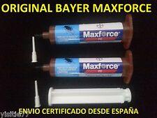 2  JERINGAS MAXFORCE FC ORIGINAL BAYER ELIMINAR CUCARACHAS GEL 2X30g=(600m2)