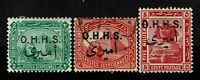 Egypt SC# O14-O16, Mint Hinged and Used, Hinge Remnants - S4093