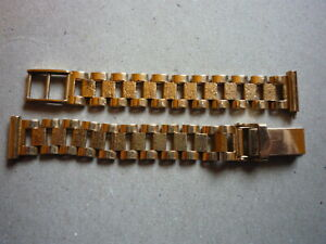 9ct Gold ladies watch bracelet strap band.
