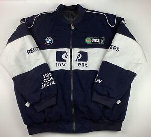 BMW Williams F1 Team Jacket Size XL Racing Rare HP Castrol Blue White