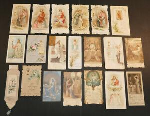 LOT 100 IMAGES PIEUSES RELIGIEUSES SOUVENIRS PREMIERE COMMUNION RELIGIOUS CARDS