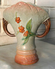 Antique Roseville Bittersweet Handled Vase 884-8 Very Beautiful 1940 Gray