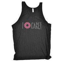 Funny Novelty Vest Singlet Top - I Donut Care