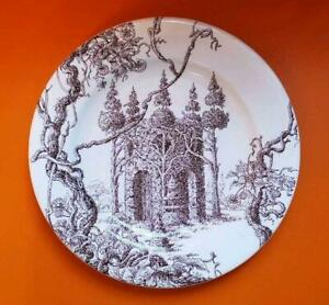 Hermes Dessert Plate Les Maisons Enchantees Dish Tableware Porcelain New 9.0 in