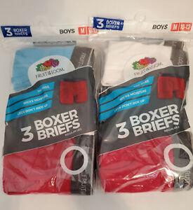 Fruit of the Loom Boys' Boxer Brief Medium (10-12) - 2 Packs of 3 (6 Total)