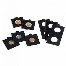 50 Lighthouse Matrix Self Adhesive 2x2 Coin Flips Holders Black 35mm 2 Packs NEW