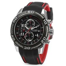 MEGIR Braided Rope BIG FACE Wrist Watch Mens Quartz Chronograph Silicone Band