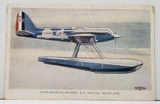 Supermarine Napier S. 5 Racing Seaplane Leonard Bridgman Postcard G7