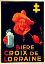 BIERE CROIX DE LORRAINE, France, 1910's, 250gsm A3 Poster
