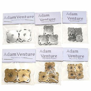 Pack of sew-on magnetic fasteners | Only 15mm and 19mm bronze left in stock