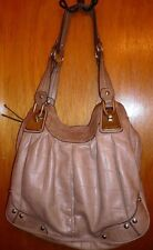 B. MAKOWSKY Tan Beige Moc Croc Leather Shoulder Satchel Handbag Shoulder Bag