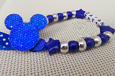 Personalised Stunning Royal Blue Mickey Mouse Dummy Clip holder for reborn doll