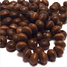 Lot de 50 Perles en Bois Rondelles 6x8mm Marron