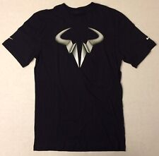 NIKE Premier Rafa Icon DOUBLE SWOOSH 1/1 T-Shirt 628543-011 Black (MEN'S MEDIUM)